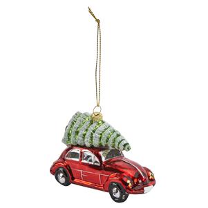 Retro decoration- car with Xmas tree