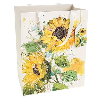 Bug Art Sunflowers Gift Bag Large