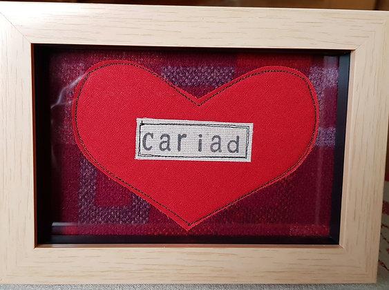 Chwaethus - Melin Tregwynt frame Cariad (Love)  Red
