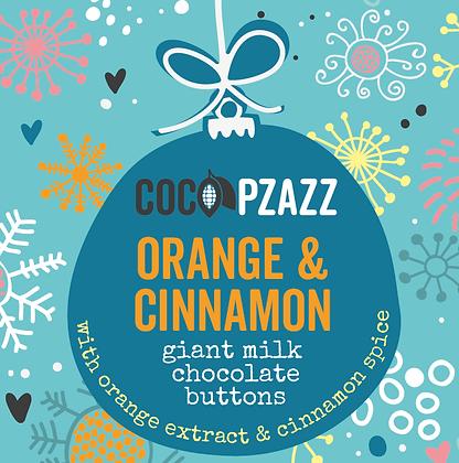 Giant Milk Chocolate Buttons – Orange & Cinnamon 96g