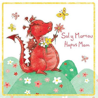 Carden Sul y Mamau Hapus Mum - Happy Mother's Day Mam -  Welsh Dragon