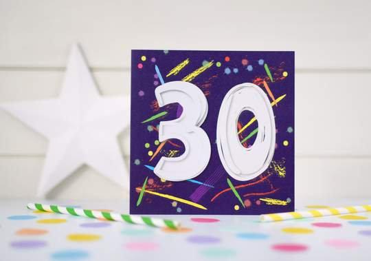 Carden oedran arbennig/ Special Age Birthday Card