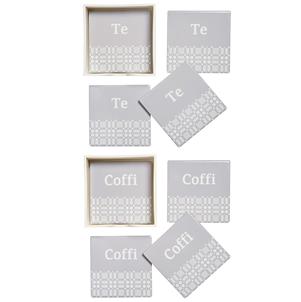 Ceramic coasters Te/Coffi