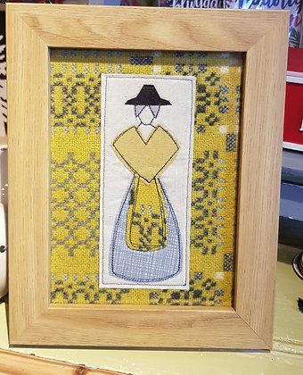 """Chwaethus 8"""" x 6"""" Welsh lady """"Branwen"""" frame"""