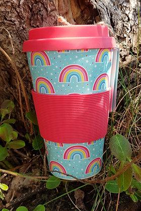 Chasing Rainbow Bamboo Travel Mug