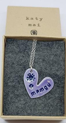 Katy Mai - Mwclis Cymraeg / Welsh Necklace - Mamgu (Grandma)