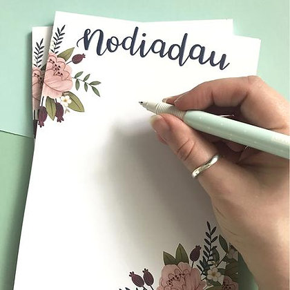 "Megan Tucker Illustration  ""Nodiadau"" note pad"