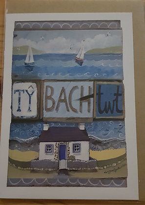 Lizzie Spikes Driftwood designs card - Ty Bach Twt