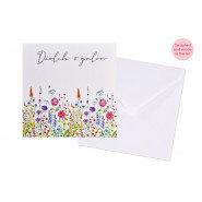 Diolch o galon  (Thank you) Card - Blank inside