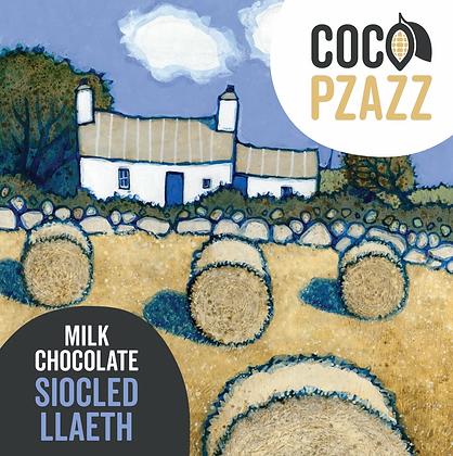 Coco Pzazz - Siocled Llaeth / Milk Chocolate Bar 80g