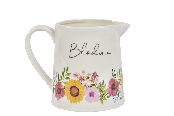 Blodau (Flowers)  Milk Jug - small