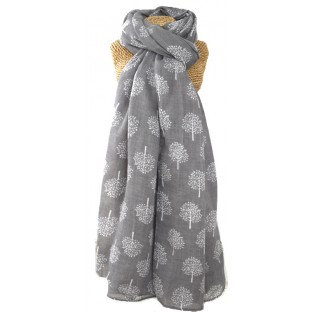 Mulberry Trees Scarf -Grey