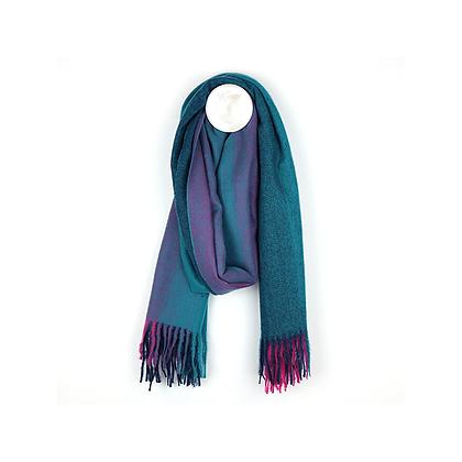 Blue/Purple ombre weave scarf