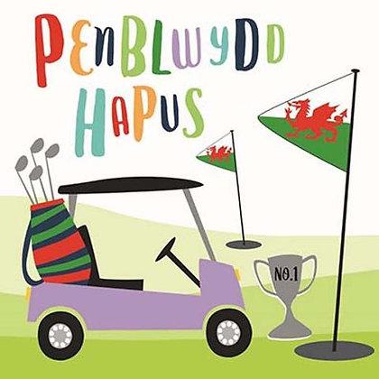 Carden Penblwydd Hapus / Happy Birthday Card - Golf