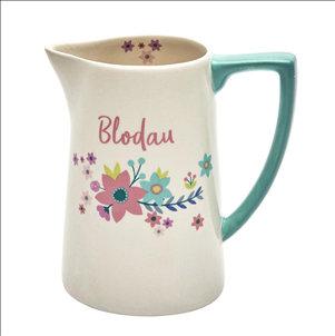 """Jwg Blodau/Welsh """"Blodau"""" (Flowers) Jug"""