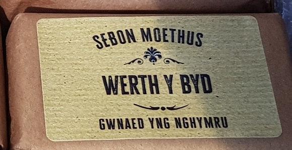 Sebon 'Werth y Byd' Soap (Mean the World)