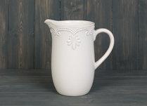White Ceramic Jug 20cm