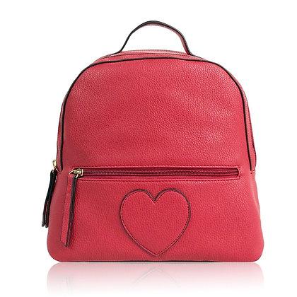 Maddison Emblem Backpack - Red