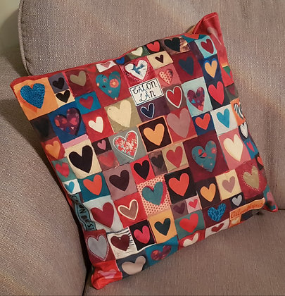 Lizzie Spikes Driftwood design Calonnog Hearty Velvet Cushion Cover