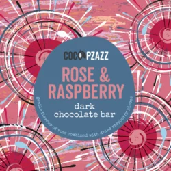 Rose & Raspberry Dark Chocolate Bar 80g