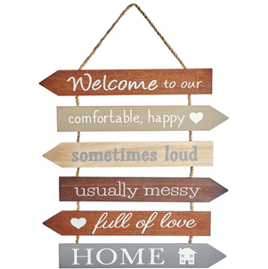 Multi-arrow welcome sign