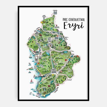 Megan Tucker Welsh Eryri Map