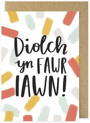 Diolch yn Fawr/Thank you card