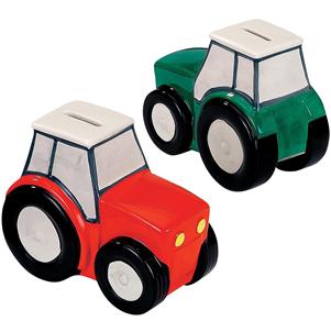 Tractor Money Box - Choice of 2