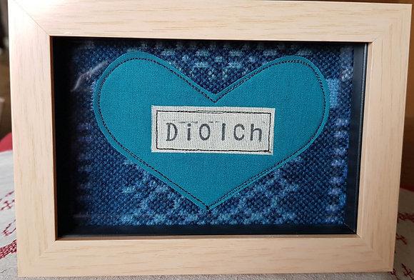 Chwaethus - Melin Tregwynt frame Diolch (Thank you) Blue