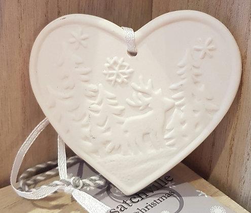 Heart Hanger Reindeer Scene 8 cm