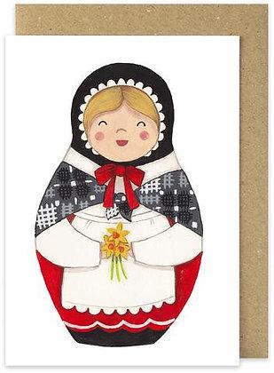 Heulwen Welsh Lady card