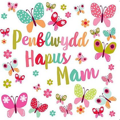 Carden Penblwydd Hapus Mam/  Happy Birthday Mum Card