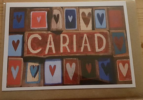 Lizzie Spikes Driftwood designs card - Cariad