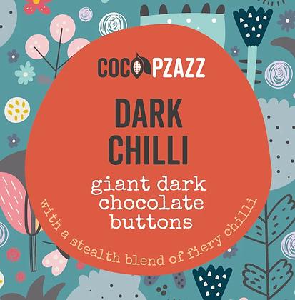 Coco Pzazz -Giant Dark Chocolate Buttons – Dark Chilli 96g