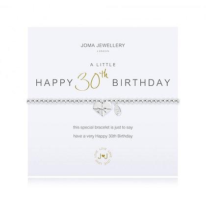 Joma Jewellery A LITTLE HAPPY 30TH BIRTHDAY BRACELET