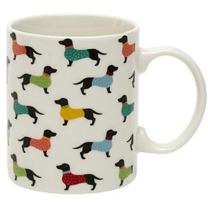 Dotty dachshund mug