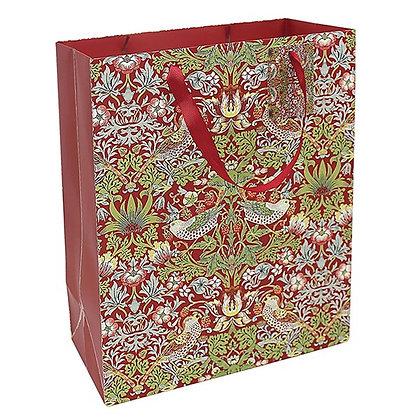 William Morris Strawberry Thief Gift Bag Large