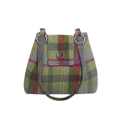 Earth Squared Stone Moss Tweed Ava Bag