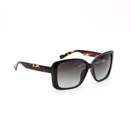 Dark tortoiseshell sunglasses with square frames