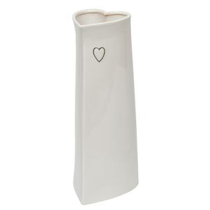 Evie large ceramic heart vase