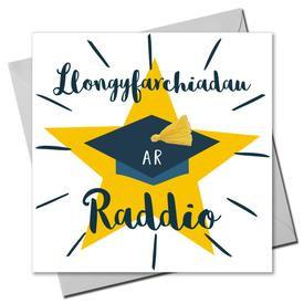 Carden Llongyfarchiadau ar Raddio/Congratulations on Graduating Card