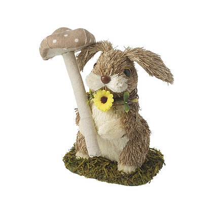 Standing Rabbit With Mushroom - Small