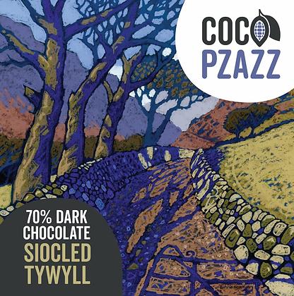 Coco Pzazz - Siocled Tywyll / 70% Dark Chocolate Bar 80g