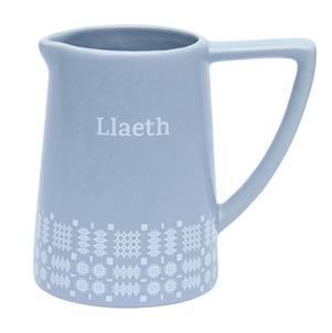 """Welsh blanket stitch """" Llaeth"""" (milk)jug"""