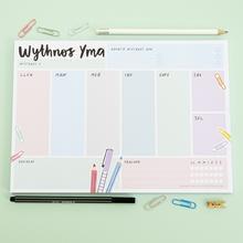 "Megan Tucker  ""Wythnos Yma""/ This Week Planner A4 Notepad"
