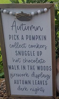 Autumn Feeling Plaque