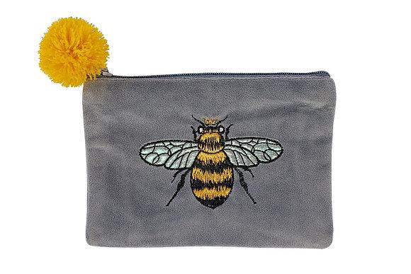 Bee Grey Coin Purse