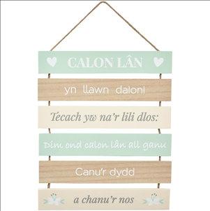 Calon Lan Welsh hanging sign