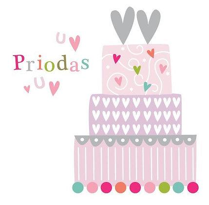 Carden Priodas Cymraeg/ Welsh Wedding Day Card