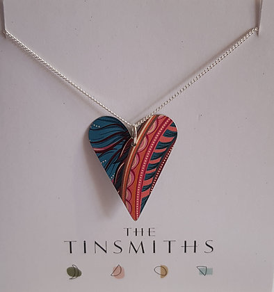 Kate HH Studio Tiger Lily Medium Heart Necklace
